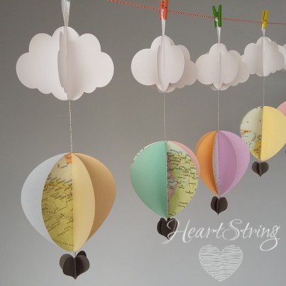... hot air balloon nursery decorations pastels baby room decor cape town  ...