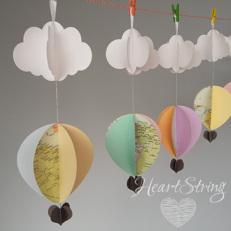 hot air balloon decorations come fly with me pastels