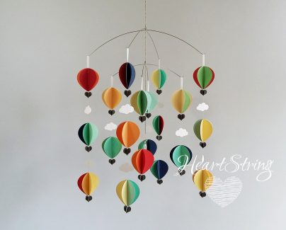 Hot Air Balloon Mobile Soft MidMod Brights