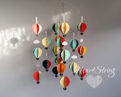 Hot Air Balloon Mobile Vintage Bright